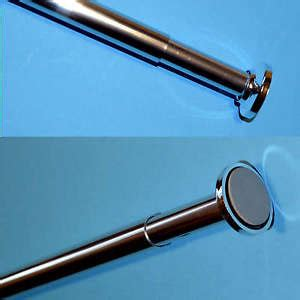 no drill curtain rods uk telescopic shower curtain rail extendable 125 220cm pole