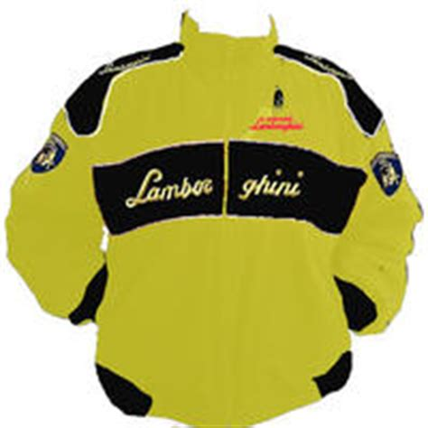 Race Car Jackets Lamborghini Racing Jacket Yellow And Black