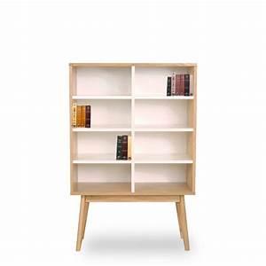 Bibliothèque Design Meuble : biblioth que scandinave en bois 8 niches skoll by ~ Voncanada.com Idées de Décoration