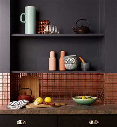 adhesif carrelage cuisine crédence cuisine en carrelage adhésif cuivre