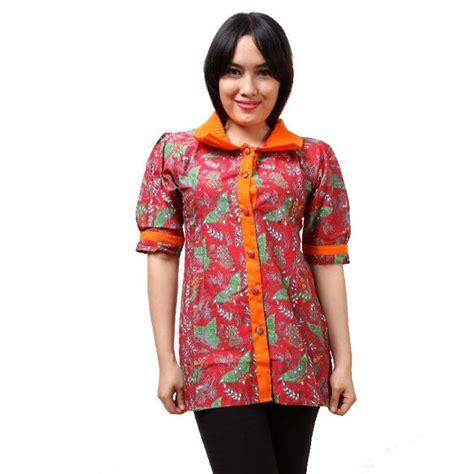 10 baju batik kantor wanita terbaru desain kekinian baju batik kantor