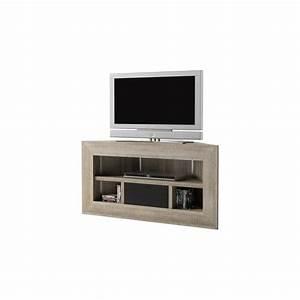 Meuble D Angle Moderne : meuble tv d 39 angle ch ne gris brooklyn achat vente ~ Teatrodelosmanantiales.com Idées de Décoration