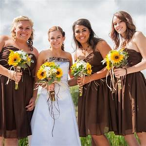 camouflage wedding with sunflowers tayler and her With sunflower wedding bridesmaid dresses