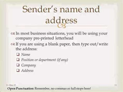 format  business letters  english communication
