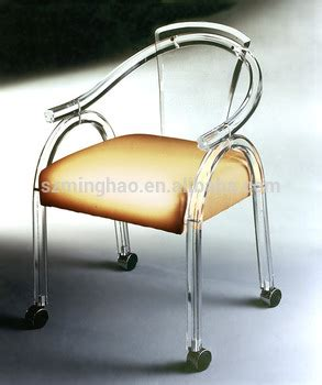 clear acrylic office chair with wheels and cushion buy