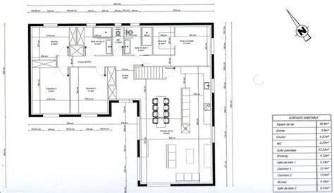 plan de bureau photo quot plan de maison en l 3 chambres 1 bureau quot maison