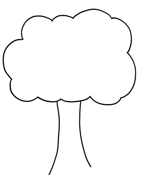 Tree Template Black And White by Bare Tree Template Cliparts Co