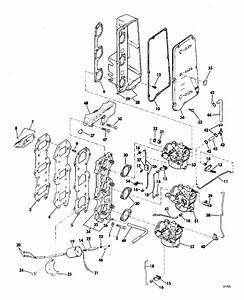 Johnson Intake Manifold And Carburetor Group Parts For