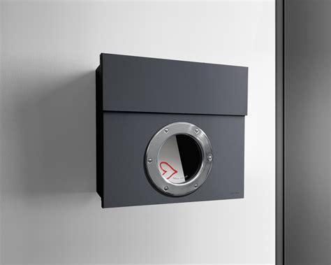 letterman 1 radius design briefkasten mit bullauge anthrazit grau ral 7016 verdecktes schloss
