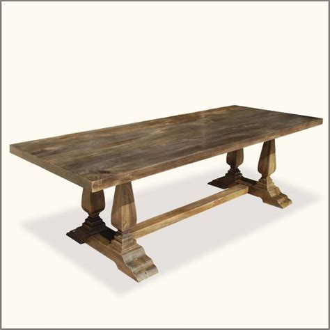 Long Custom DIY Farmhouse Distressed Dining Table With