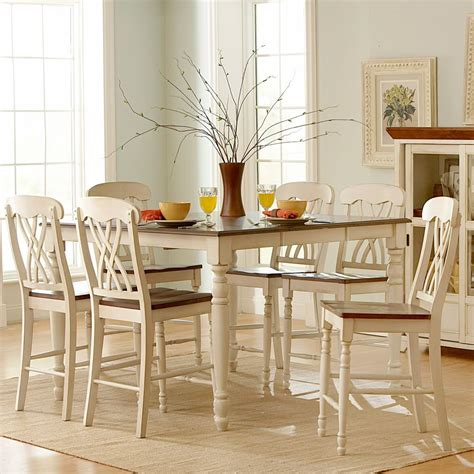 white kitchen furniture sets oxford creek 7pcs antique white counter height set home
