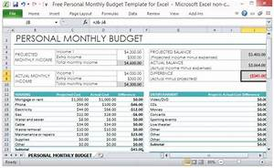 personnel budget template - excel personal budget template calendar monthly printable
