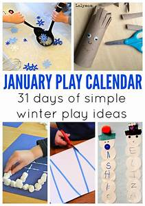 January Activities for Kids - Monthly Play Calendar - LalyMom