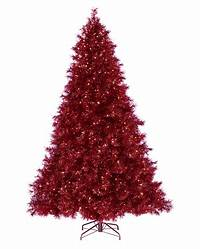 red christmas tree Ruby Red Tinsel Christmas Tree | Treetopia