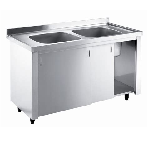 metal kitchen sink cabinet unit inomak stainless steel sink on cupboard lk5142c 9149