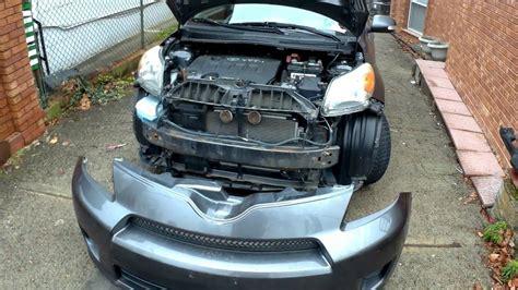 remove replace front bumper cover scion xd