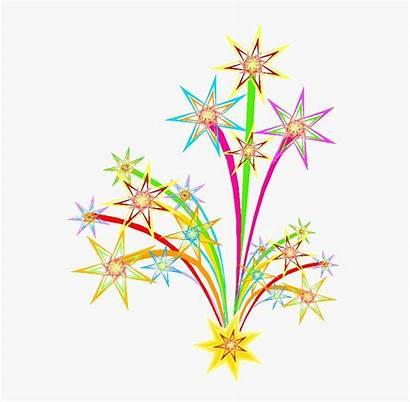 Fireworks Eve Years Clipart Clip Cartoon Netclipart