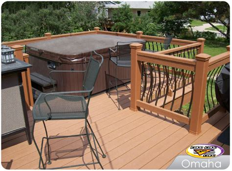 timbertech deck around above ground pool models picture