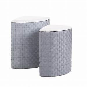 Panier A Linge D Angle : lot de 2 paniers linge d 39 angle gris panier linge eminza ~ Teatrodelosmanantiales.com Idées de Décoration