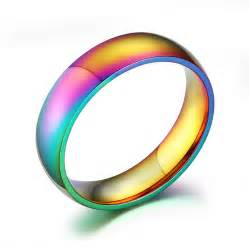 lgbt wedding rings 6mm wide pride rings jewelry rainbow wedding rings for and wholesale stainless