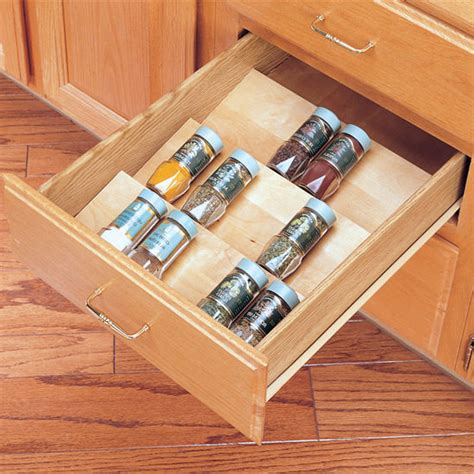 kitchen cabinet spice organizers spice racks wood spice kitchen drawer insert by rev a 5791