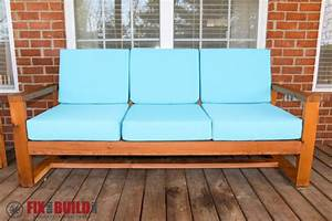 how to build a diy modern outdoor sofa fixthisbuildthat With build your own outdoor sectional sofa