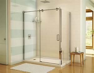 douche glide 6036 pour installation en coin douches With porte de douche coulissante avec lavabo salle de bain 2 robinets