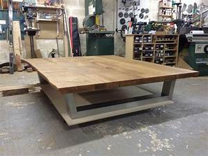 Large Oak Coffee Table With Storage