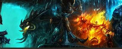 Dual Monitor Warcraft Wallpapers Wallpaperworld Monsters Screen