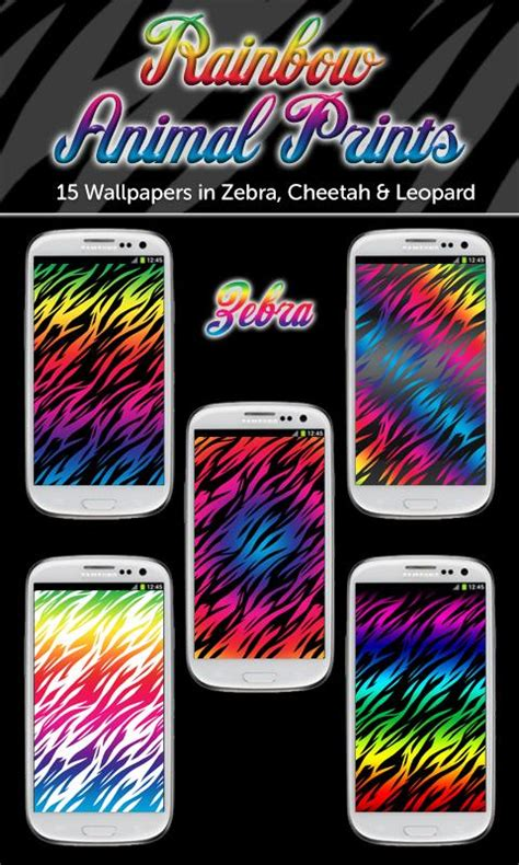 Rainbow Animal Print Wallpaper - rainbow animal print wallpaper android apps on play