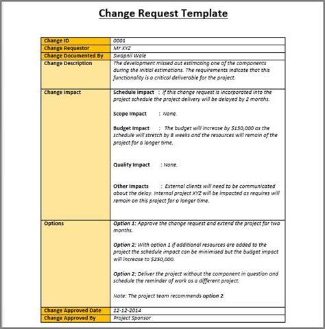 change management templates change management project