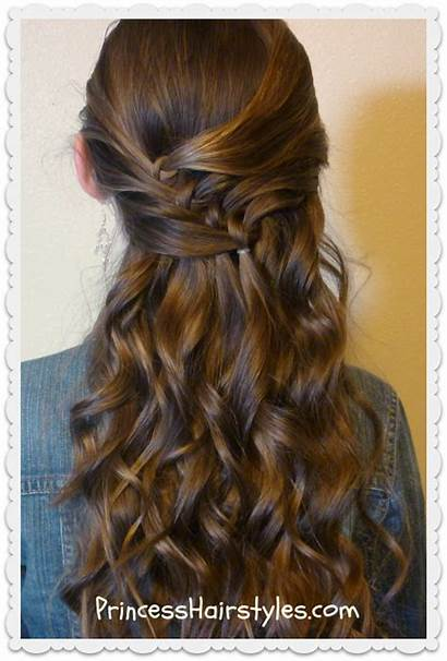 Diagonal Hairstyle Half Hairstyles Knots Princess Knot
