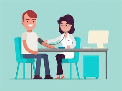 Doctor Hypertension Doctors Animation Dribbble Perubatan Pegawai