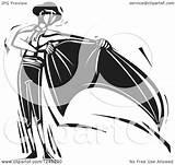 Matador Clipart Cape Illustration Woodcut Royalty Xunantunich Vector sketch template