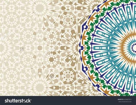 disintegration morocco mosaic abstract template arabic