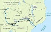 Zambezi River Map ~ AFP CV