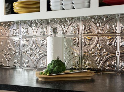 install  tin tile backsplash  tos diy