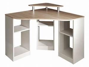 Petit Bureau Ordinateur : bureau d 39 angle vente de bureau conforama ~ Teatrodelosmanantiales.com Idées de Décoration