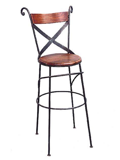 tabouret chaise de bar fer forg 233 et bois 5111