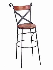 Chaise Bois Et Fer : tabouret chaise de bar fer forg et bois 5111 ~ Melissatoandfro.com Idées de Décoration