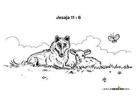 Kleurplaat Schaap En Lam by Kleurplaat Wolf En Lam Jesaja 11 6 Bijbelplaatjes