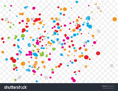Abstract Color Splash Illustration On Transparent Stock