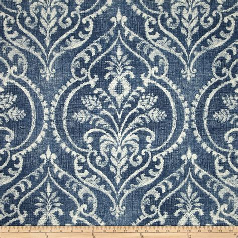 Denim Upholstery Fabric by Swavelle Dalusio Damask Denim Discount Designer Fabric