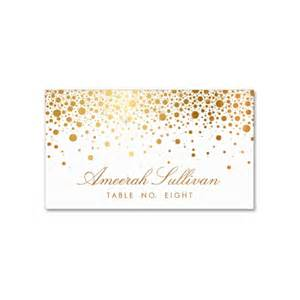 rehearsal and dinner invitations faux foil confetti gold and white place card luxury