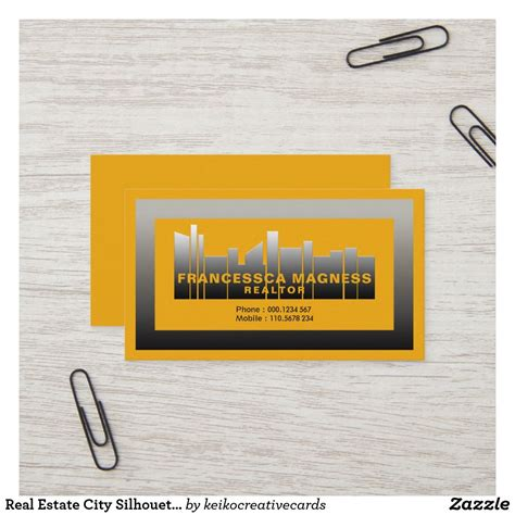 real estate city silhouette stylish  realtor business