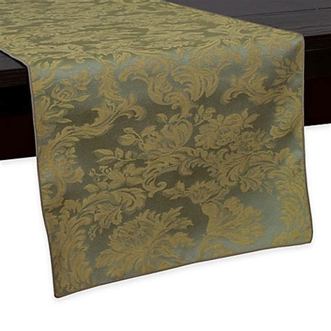 72 inch table runner buy miranda damask 72 inch table runner in sage from bed