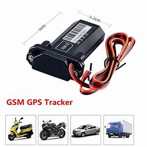 Car Vehicle Motorcycle Gsm Gps Tracker Locator Global Real