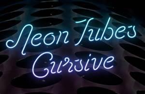 cursive neon tubes font medialoot With neon letter maker