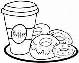 Coloring Donut Coffee Donuts Printable Yummy Cream Icing Roll Disimpan Coloringpagesfortoddlers Dari Yeast Sponge Dough Lard Colouring Shopkins Cartoon Coloringfolder sketch template