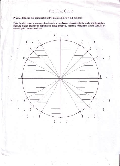 worksheet unit circle practice worksheet worksheet